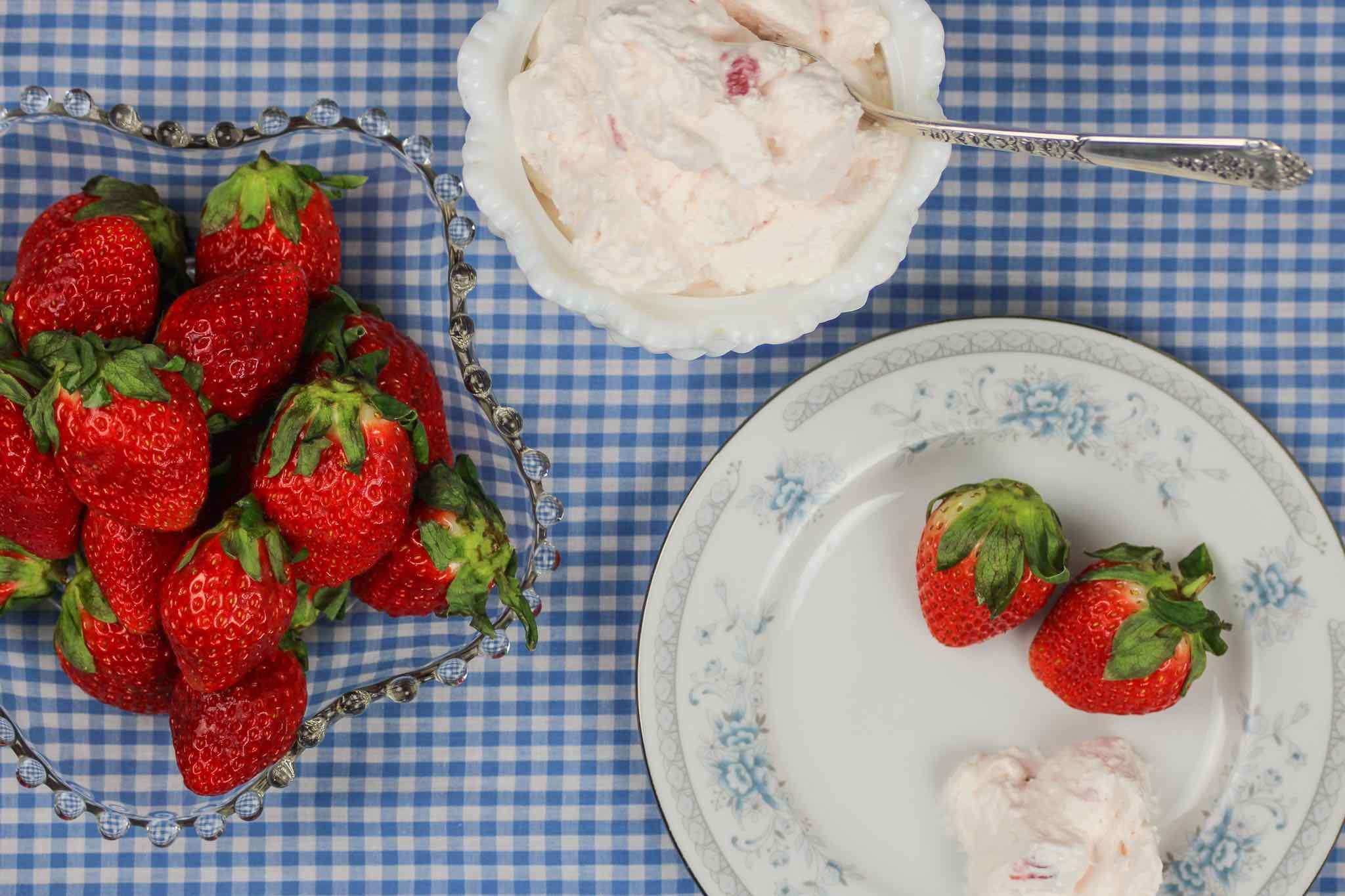 strawberries and dip