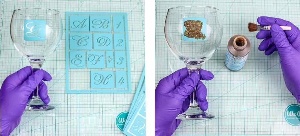 glass etching steps