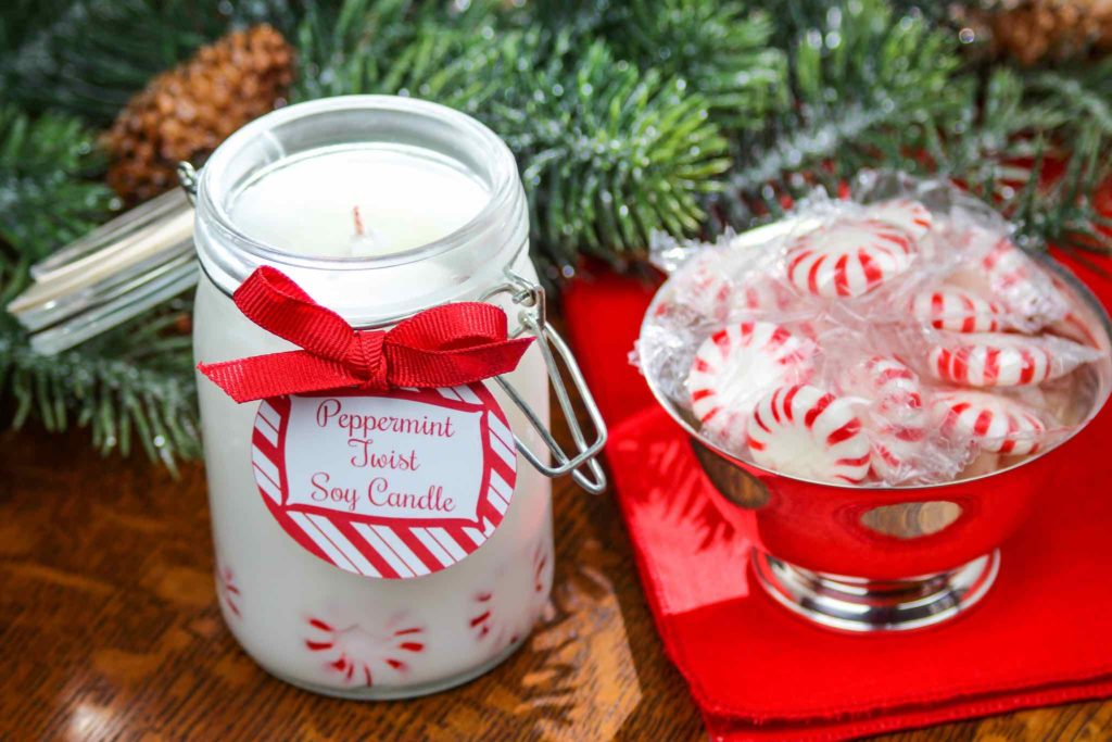 peppermint twist soy candle