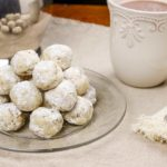 plate of snowball cookies